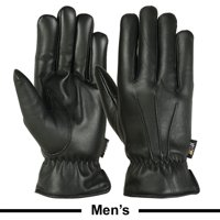 Mens Warm Winter Gloves Dress Gloves Thermal Lining Geniune Leather BLACK, Medium