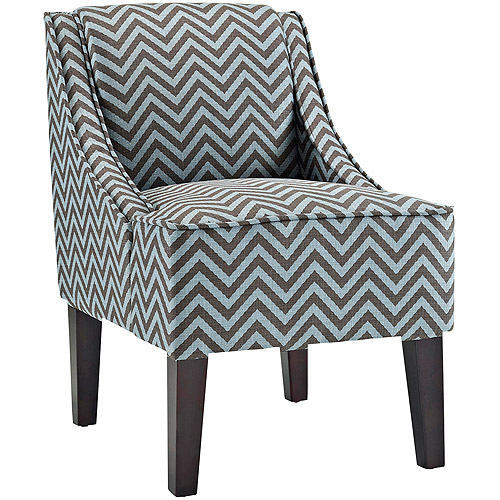 Roundhill Botticelli English Letter Print Fabric Armless Contemporary Accent  Chair, Single   Walmart.com