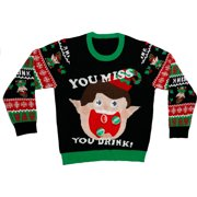 Just One Elf Holiday Game Sweater for Adults, Large/X-Large, Includes Accessories