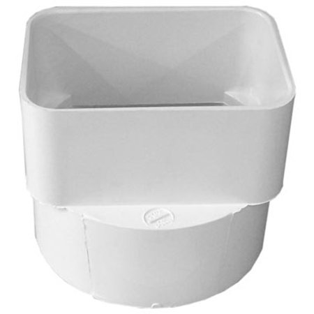 Pvc Sewer & Drain Downspout Adapter, 3 X 4 X 4