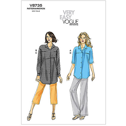 Vogue Pattern Misses' Shirt and Pants, B5 (8, 10, 12, 14, 16)