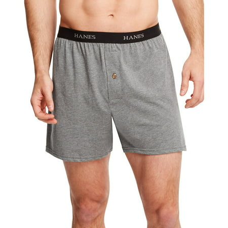 Hanes Mens Classics 5-Pack Dyed Exposed Waistband Knit Boxer