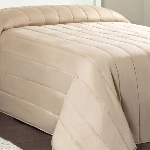 Mainstays Solid Channel Quilted Bedspread Collection