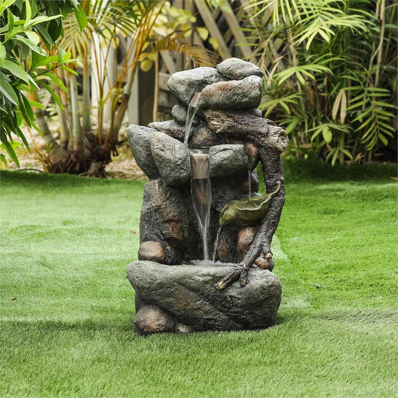 Nature And Rock Fall Outdoor Fountain