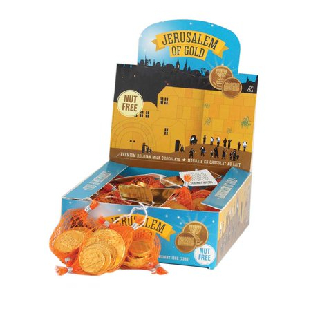 Premium Milk Belgian Chocolate Chanukah Gelt Sacks - Hanukkah Decorating Ideas