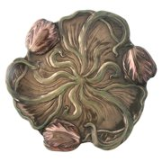 10 Inch Collectible Bronze Colored Cold Cast Resin Tulip Plate