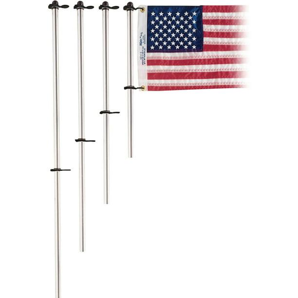 Taylor 3 4 Diameter Aluminum Flag Pole With Charlevoix Flag Clips Walmart Com Walmart Com