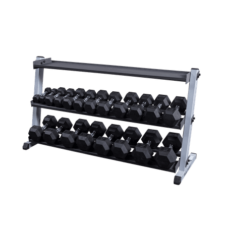 Body Solid GDR60KRT Dumbbell and Kettlebell Rack