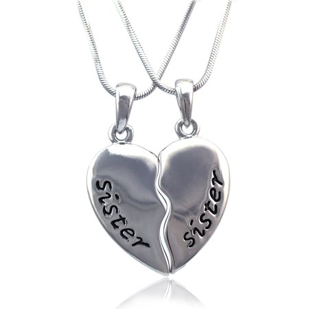 cocojewelry Sister Sister Best Friend Forever BFF Heart Pendant Necklace](Friends Forever Heart)