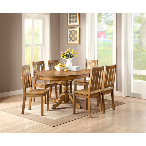 Better Homes and Gardens Cambridge 7-Piece Dining Set, Honey
