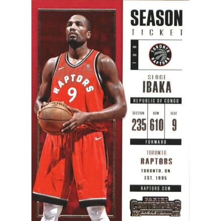 2017-18 Panini Contenders Season Ticket #40 Serge Ibaka Toronto Raptors Basketball Card](Serge Ibaka Halloween)
