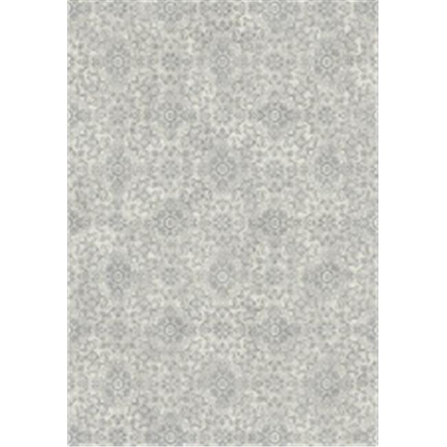 Ancient Garden Rugs, Silver & Grey - 6.7 x 9.6 in.