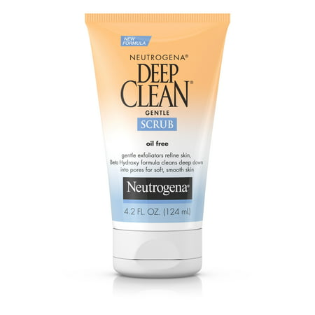 Neutrogena Deep Clean Gentle Facial Scrub, Oil free Cleanser 4.2 fl.