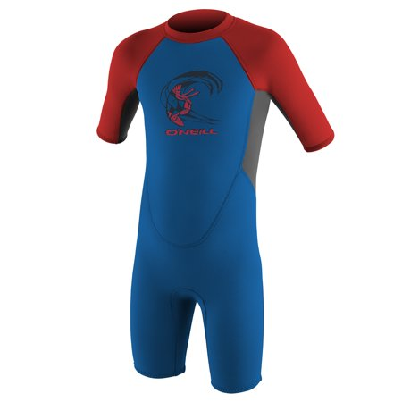 O'NEILL TODDLER REACTOR-2 2MM BACK ZIP S/S SPRING - 2mm Titanium Wetsuit