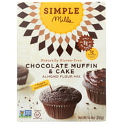 (6 Pack) Simple Mills Chocolate Muffin And Cake Baking Mix, 10.4 Oz
