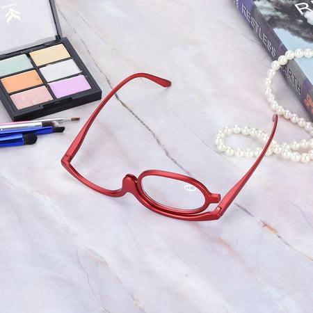 HERCHR Magnify Eye Makeup Glasses Single Lens Rotating Glasses Women Makeup Essential Tool, Rotating Makeup Glasses, Magnify Makeup Glasses,Cosmetic Makeup (Google Eye Glasses For Sale)