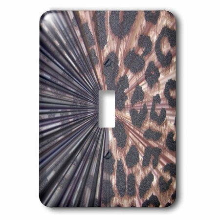 3dRose Black and Leopard Print Abstract- Animal Prints - Single Toggle Switch (lsp_36147_1)