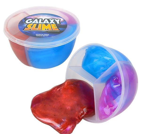"""2.25"""" GALAXY SLIME TUBS, Case of 144"""