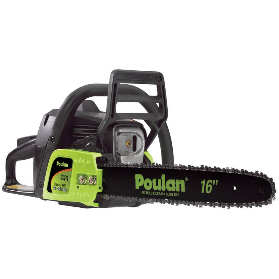 "Poulan 16"" Inch 2-Cycle 38 CC Chainsaw P3816 Factory Reconditioned"