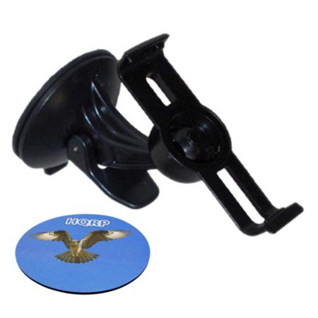 HQRP Car Windshield Cradle Suction Cup Mount / Holder compatible with  Garmin Nuvi 1260T / 1300T / 1310 / 1340 / 1340T GPS plus HQRP Coaster