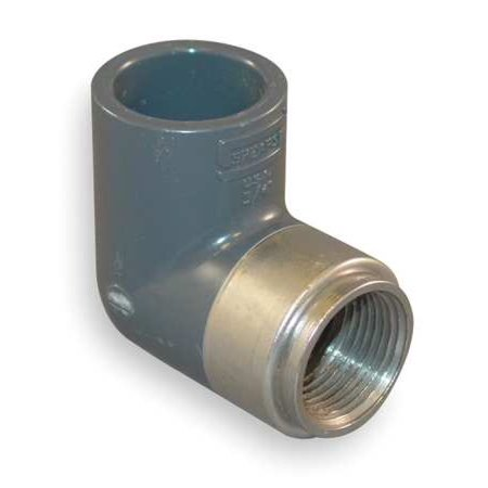 """SPEARS 807-005CBR 1/2"""""""" FNPT x Socket CPVC 90 Degree Short Sweep Elbow -  Spears Manufacturing"""