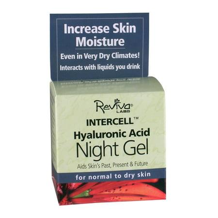 Reviva Labs Intercell Nuit Gel avec l'acide hyaluronique, 1,25 Oz