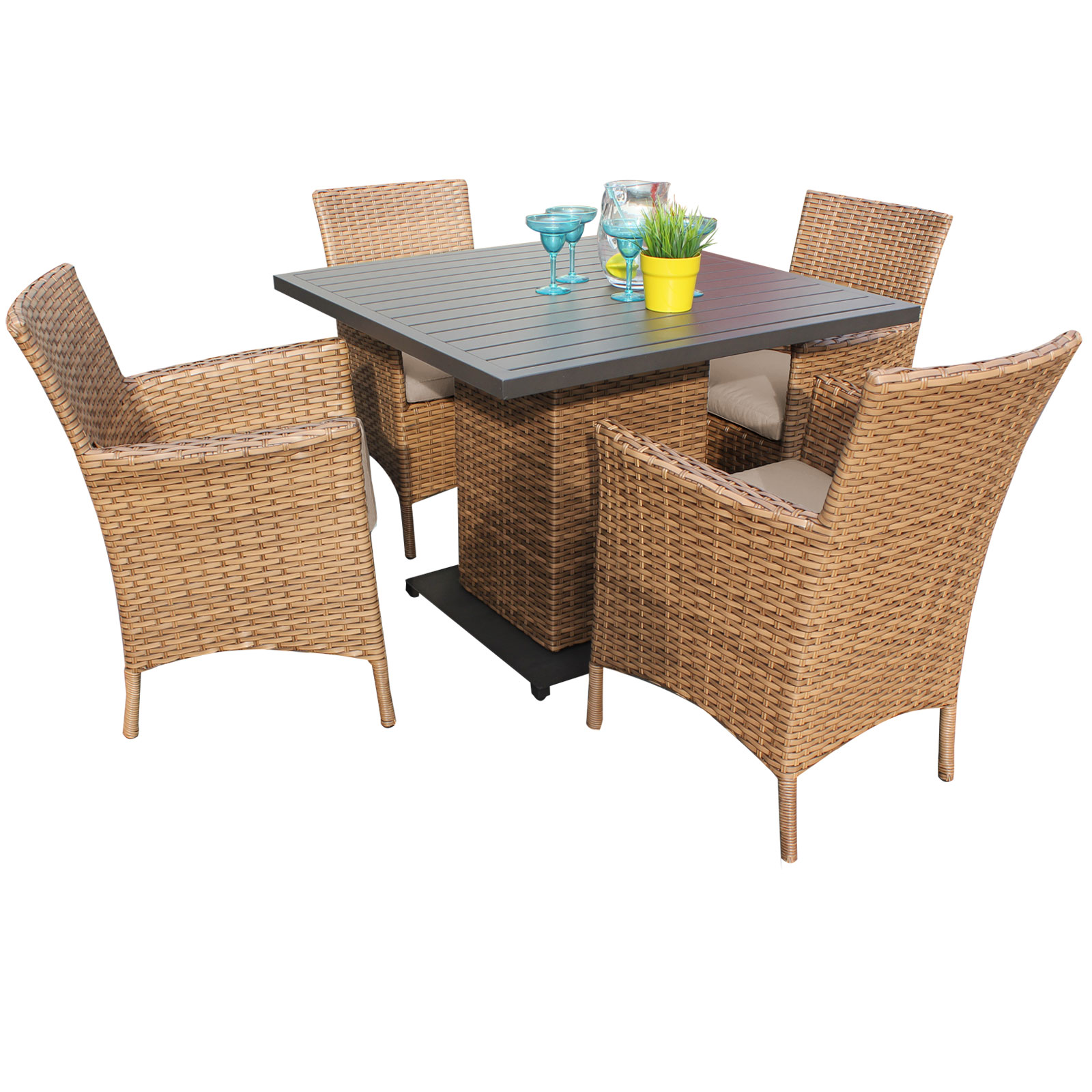 Tuscan Square Dining Table with 4 Chairs