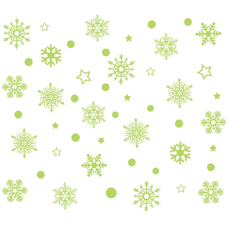 Luminous Snowflake Pattern Wall Sticker Removable Pvc Window Glass Wall NF