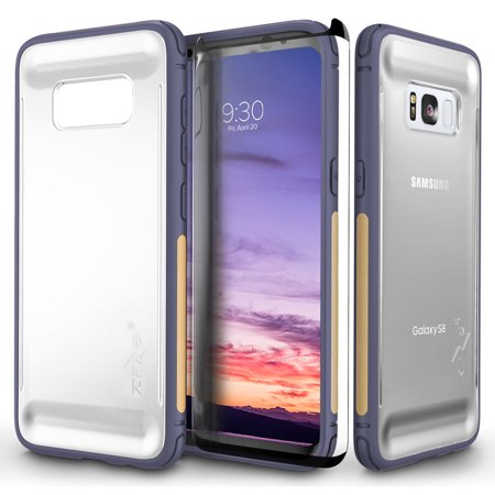Samsung Galaxy S8 / S8 Plus Case, Zizo FLUX Series w/ Screen Protector- Crystal Clear