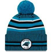 Carolina Panthers New Era Youth 2019 NFL Sideline Home Sport Knit Hat - Black/Blue - OSFA