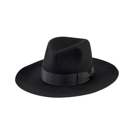 69be8814502 San Diego Hat Company - Women s San Diego Hat Company Wide Flat Brim Fedora  with Grosgrain Bow WFH8040 - Walmart.com