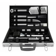 Mr. Bar-B-Q 21-Piece BBQ Grill Tool Set, Aluminum Case