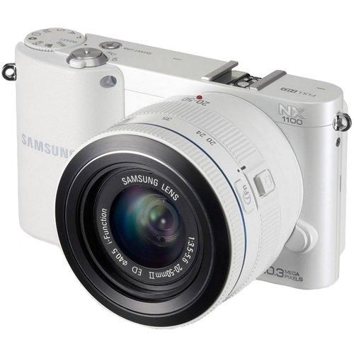 Samsung White NX1100 Compact System Digital Camera with 2...