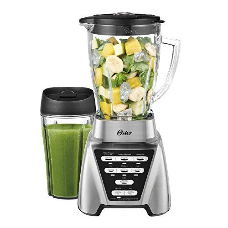 Oster Pro 1200 Blender Plus 24 Oz Smoothie Cup Brushed Nickel No Tax