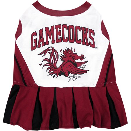 Pets First College South Carolina Gamecocks Cheerleader, 3 Sizes Pet Dress Available. Licensed Dog Outfit](Dog Cheerleader Outfit)