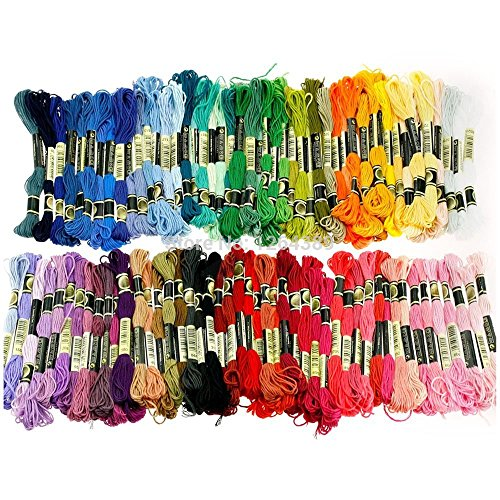 100 Anchor Cotton Embroidery Cross Stitch Threads Floss Sewing Skeins Craft Each Skein Is 8 Meters In Length Thread Assortment