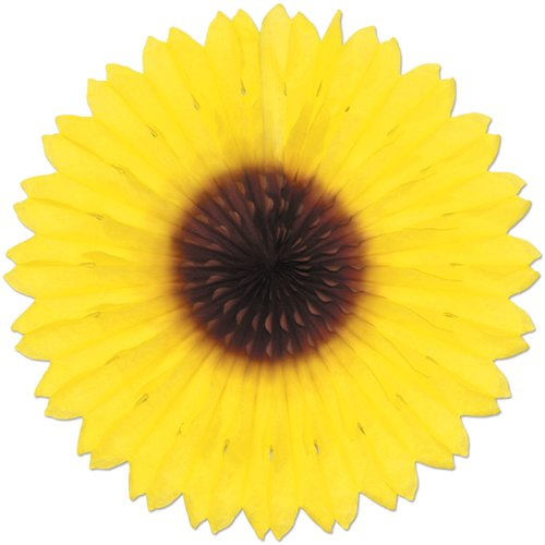 The Holiday Aisle Sunflower Fan (Set of 12)