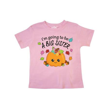 I'm Going to be a Big Sister- cute Halloween pumpkin Toddler T-Shirt - Cute Halloween Shirts