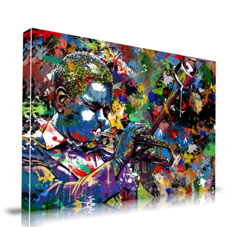 92d789d56dad Maxwell Dickson Jazz Musicians Painting Print on Wrapped Canvas -  Walmart.com