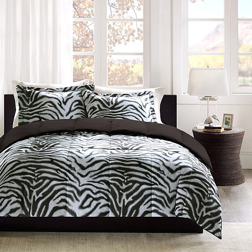 Home Essence Zebra Print Down Alternative Comforter Mini Set