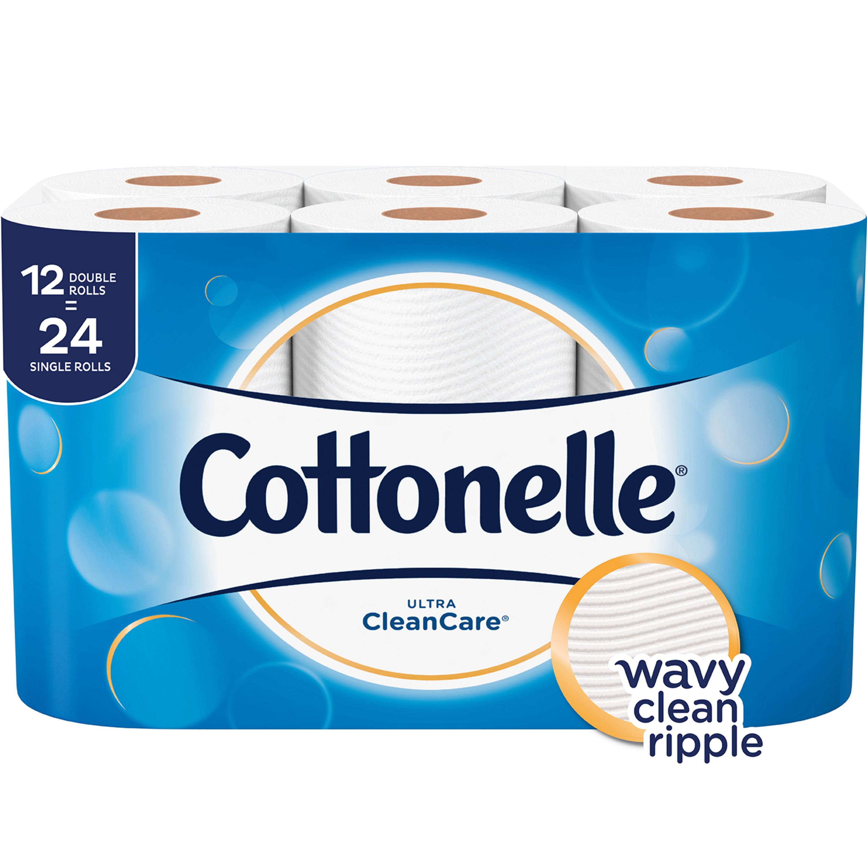 Cottonelle Ultra Clean Care, Toilet Paper, 12 Double Rolls
