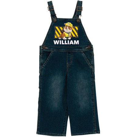 Conductor Overalls For Toddler (Personalized PAW Patrol Rubble Denim Toddler)