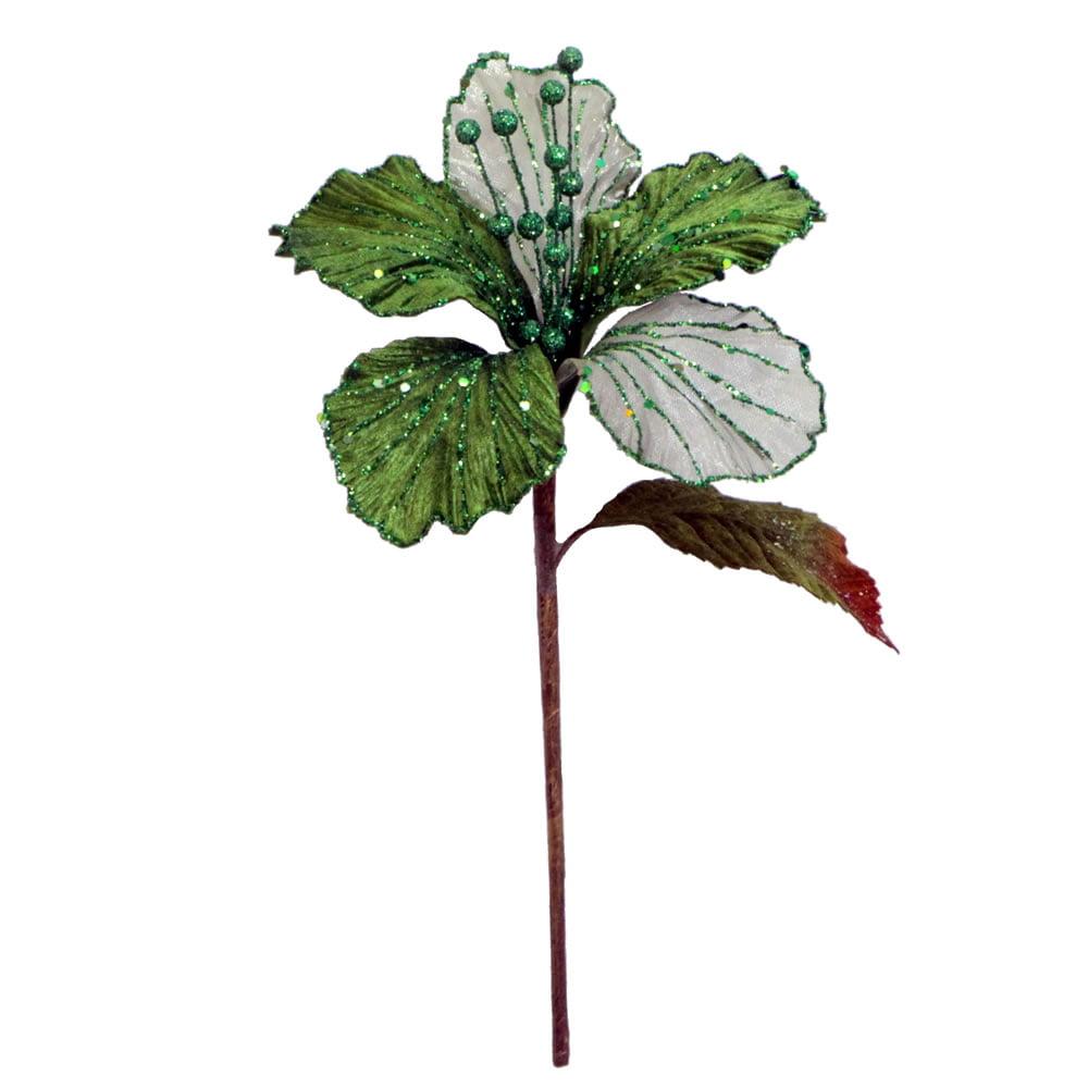"""21"""" Lime Velvet Hybiscus 6"""" Flower"""