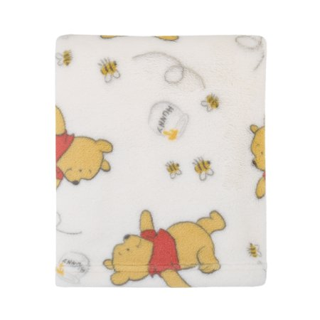 Disney Winnie The Pooh Baby Blanket - Disney Winnie the Pooh Plush Ivory Baby Blanket