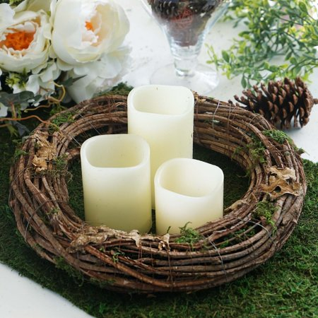 Natural Twig Heart - Efavormart 2 Pack   Natural Twig Preserved Moss Wreaths Bird Nest For Wedding Decoration