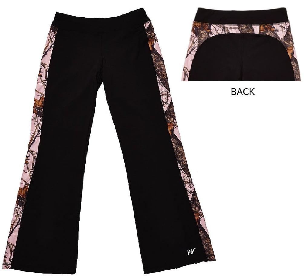 Mossy Oak Camo Yoga Workout Shorts Black Pink XXL
