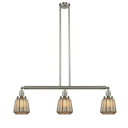 Innovations Chatham 3 Light Island Light - Brushed Satin Nickel - -