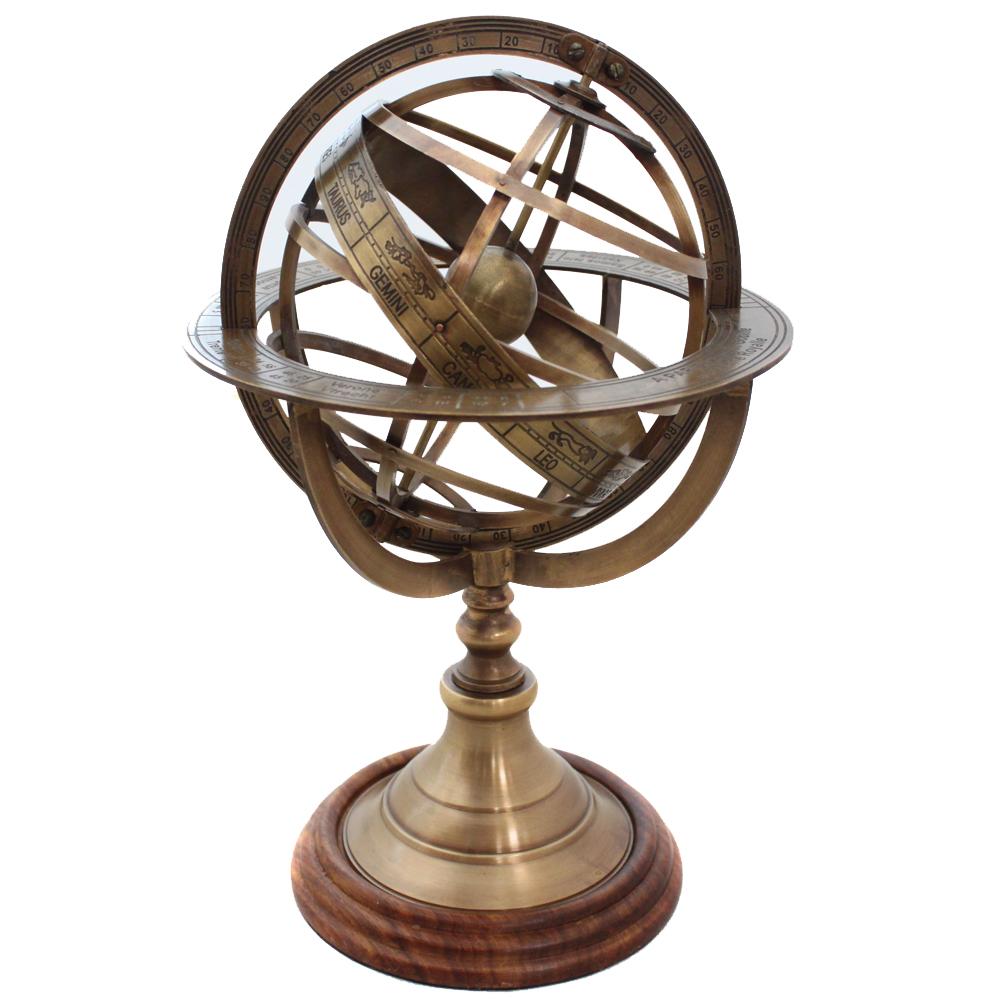 Engraved Tabletop Armillary Nautical Sphere Globe-Material:Metal