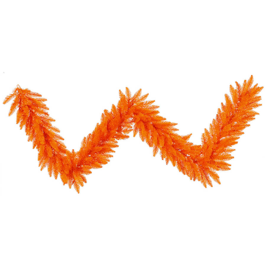 Vickerman 9' Orange Fir Artificial Christmas Garland Unlit