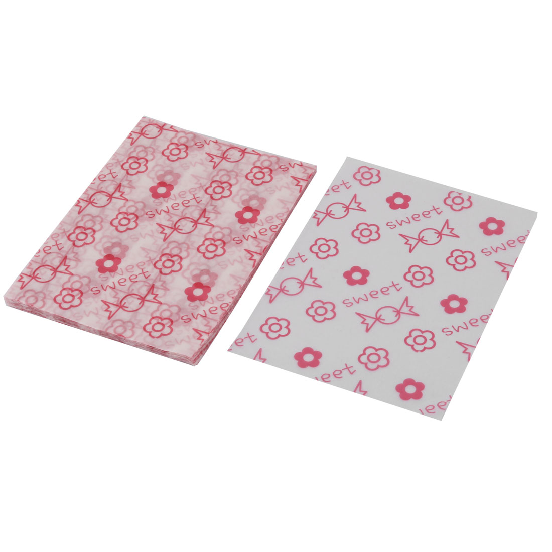 Birthday Flower Pattern Candy Sugar Chocolate Packaging Wrapping Paper 100pcs